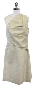 3.1 Phillip Lim short dress Beige & Gold Shimmer Asymmetrical on Tradesy