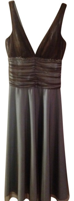Preload https://item5.tradesy.com/images/js-boutique-dress-chocolate-brown-and-blue-1677794-0-0.jpg?width=400&height=650
