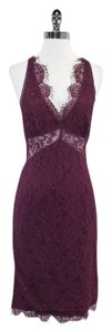 Dolce&Gabbana Plum Sleeveless V-neck Dress