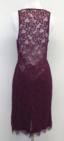 Dolce&Gabbana Plum Sleeveless V-neck Lace Dress well-wreapped
