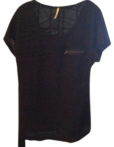 B'jewel . Poly/rayon Dress Short Sleeve Top Black