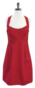 Nanette Lepore short dress Red Bandage Bust Fit Flare on Tradesy