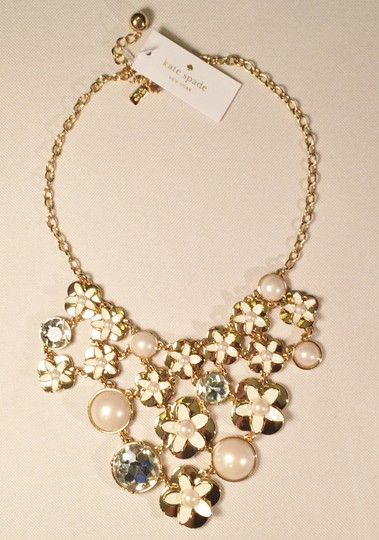 Kate Spade Whimsical NWT Kate Spade 12K Gold Plated Window Seat Statement Necklace