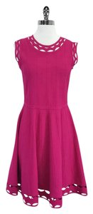 MILLY short dress Pink Cut Out Textured on Tradesy