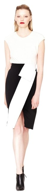 Narciso Rodriguez Origami Fold Over Pencil Skirt Black and White