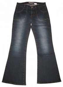 Paris Blues Flare Leg Jeans-Dark Rinse