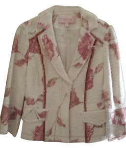 Silk Mulberry White and pink Blazer