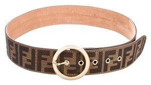 Fendi Brown Zucca canvas Fendi belt S Small