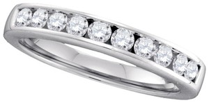 Luxury Designer 14k White Gold .50 Cttw Diamond Anniversary Ring Bridal Wedding Band