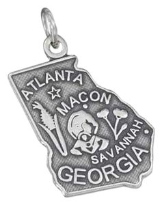 unknown STERLING SILVER ANTIQUED GEORGIA STATE CHARM