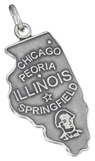 unknown STERLING SILVER ANTIQUED ILLINOIS STATE CHARM
