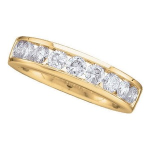 Luxury Designer 14k Yellow Gold .50 Cttw Diamond Anniversary Ring Bridal Wedding Band