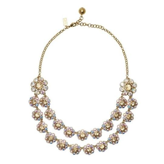 Kate Spade NWT Kate Spade 12K Gold Plated Crystal Trellis Necklace MSRP$245 Iridescent
