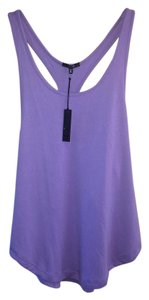 JOE'S Jeans Racer-back Cotton-poly Top PURPLE