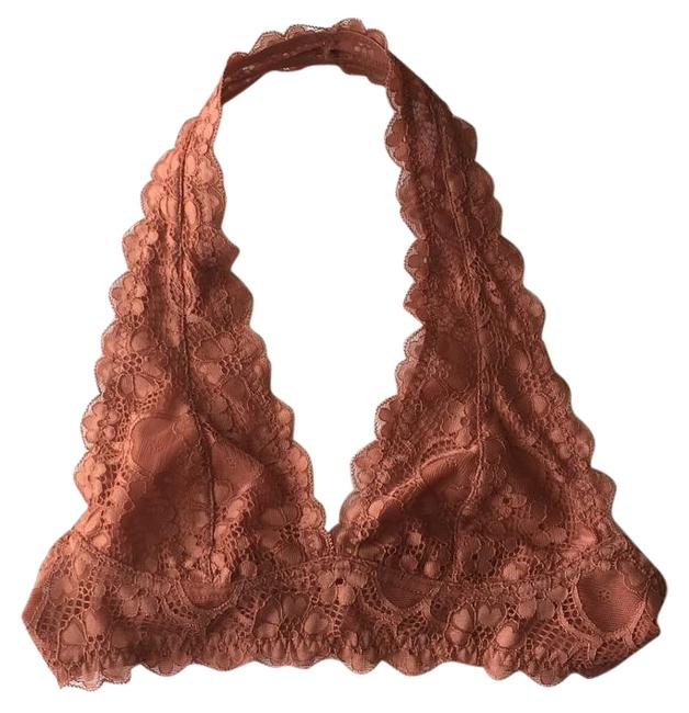 Item - Rust Galloon Lace Halter Top Size 0 (XS)