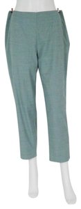 Piazza Sempione Polished Chambray Wool Silk Made In Italy Pants