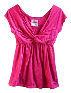 Hollister Empire Waist Gathered Top Pink