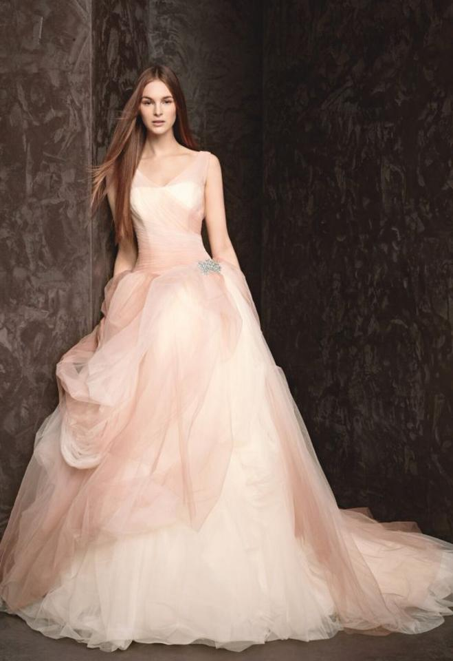 d86347f90fa89 Vera Wang Pink and White Spring 2013 Ombre Tulle Ball Gown Feminine Wedding  Dress Size 8 ...