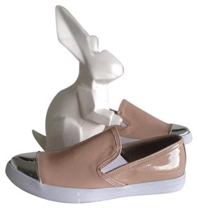 SOPLAYSHOES Fashion Sneakers Nude Silver NUDE/SILVER Flats