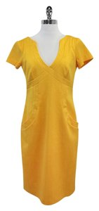 David Meister short dress Yellow Short Sleeve on Tradesy