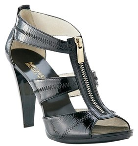Michael Kors Leather Chic Summer Spring Black Sandals