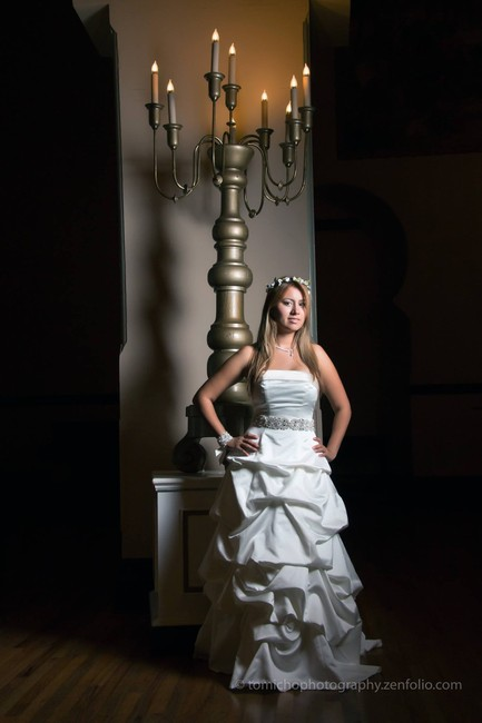 Item - Ivory with Champagne Details Satin Traditional Wedding Dress Size 4 (S)