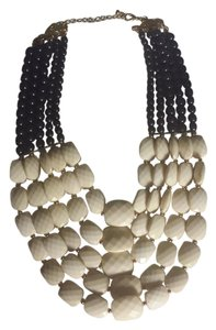 Dillard's Blue, cream statement necklace