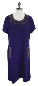 Kate Spade short dress Purple Wool Short Sleeve on Tradesy