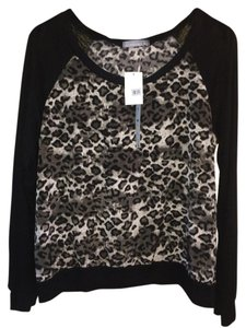 Olivia Moon Contrast Top ANIMAL PRINT