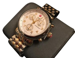 Michele Nwt Michele CSX 2 tone gold silver chronograph watch $1195
