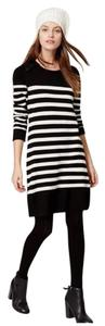 Ann Taylor LOFT short dress black Striped Long Sleeve on Tradesy