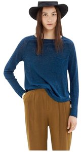 Madewell Linen Long Sleeve Longsleeve T Shirt Blue