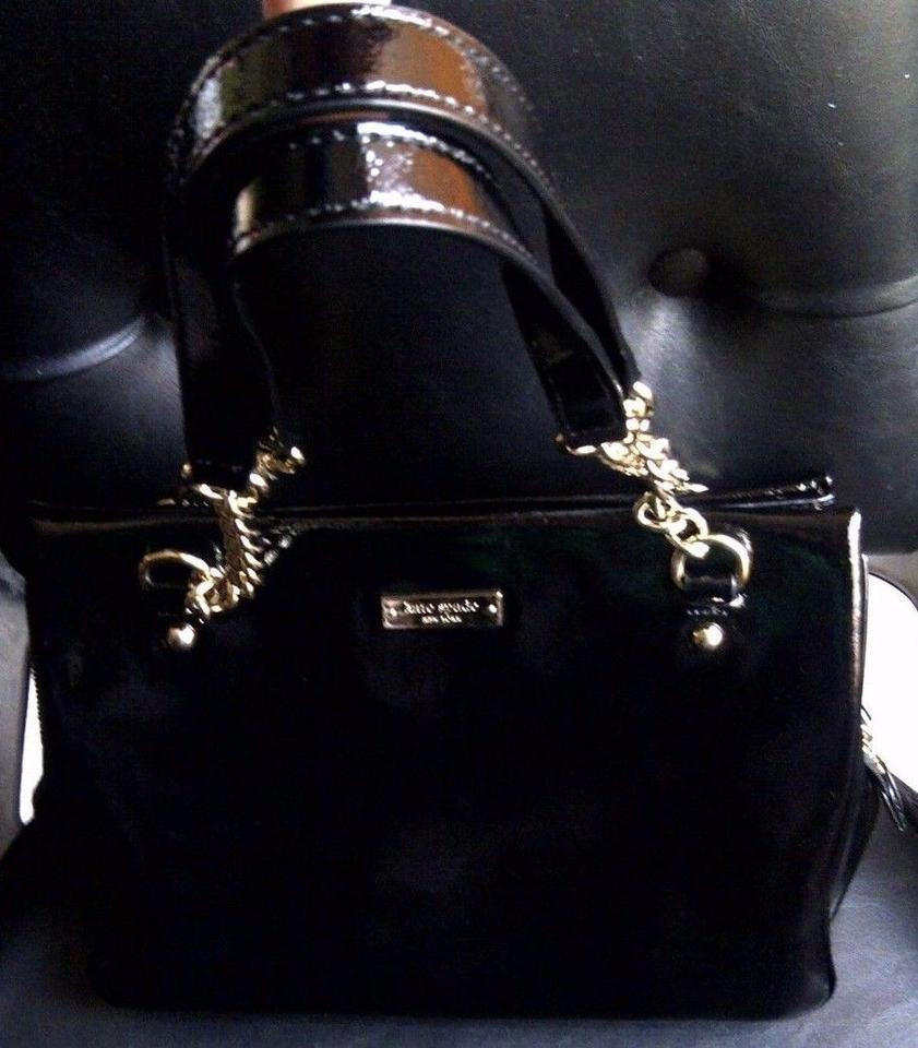 Kate Spade Zippered Darcy Chain Purse Black Shiny Patent Leather Shoulder Bag Tradesy