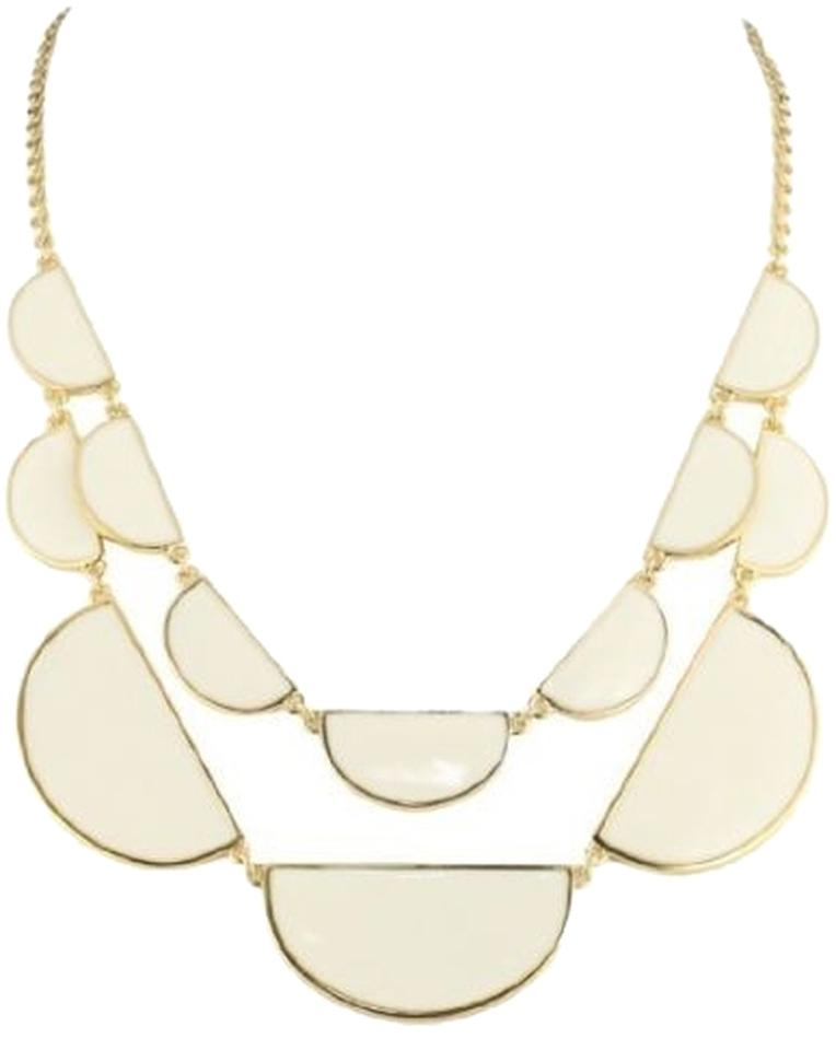 tom white kruskal scallop diamond necklace and product gold