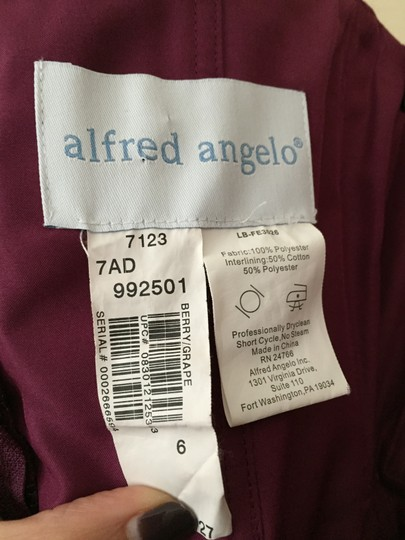 Alfred Angelo Berry/Grape 7123 Dress