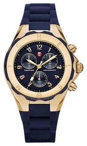 Michele NWT Michele Jelly Bean Gold & Navy Blue watch $395