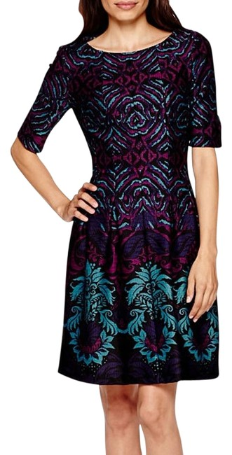 Preload https://img-static.tradesy.com/item/16786351/danny-and-nicole-teal-knee-length-workoffice-dress-size-16-xl-plus-0x-0-1-650-650.jpg