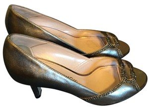 Caparros Heels Fancy SILVER METALLIC Pumps