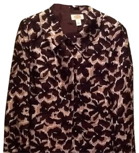 Talbots Top brown,black,cream