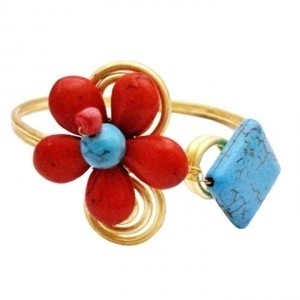 Coral Turquoise Gold Cuff Unbeaten Price Bracelet