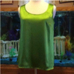 Talbots Top Lime Green