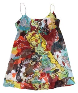 Diane von Furstenberg short dress Multi Color Print Silk on Tradesy