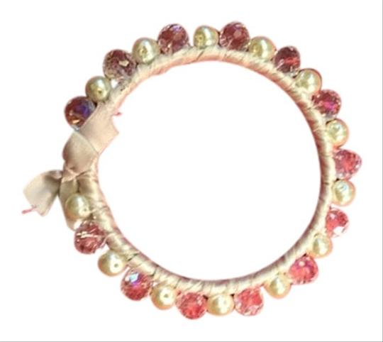 Other Pearl and Crystal Ribbon Bangle Bracelet