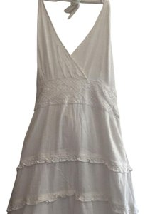 White Maxi Dress by Odille Anthropologie Boho Halter