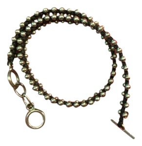 Other Double Wrap Black and Silver Bead Bracelet