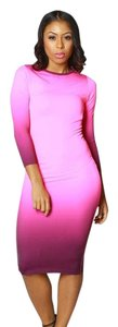 Posh Barbie Boutique Pink Dip Dye Bodycon Dress