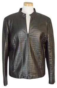 Lafayette 148 New York Leather black Leather Jacket