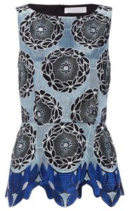 Thakoon Addition Date Night Career Career Top Blue Multi