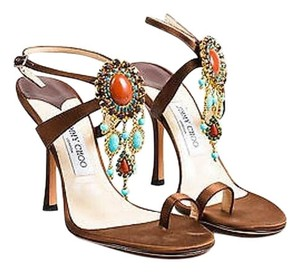Jimmy Choo Strappy Brown Sandals