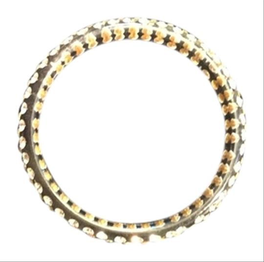 Other White Plastic Bangle Bracelet with Rhinestones